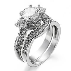 女性用 指輪石座 バンドリング 指輪 キュービックジルコニア ラインストーンベーシック ユニーク ラインストーン 幾何学形 セクシー ファッション ボヘミアスタイル パンクスタイル あり ヒップホップ マルチの方法が着用します かわいいスタイル 欧米の 映画ジュエリー