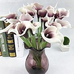 billige Kunstige blomster-Kunstige blomster 10 Gren Europeisk Calla-lilje Bordblomst