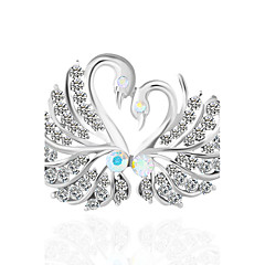 cheap Pins and Brooches-Women's Brooches Synthetic Diamond Animal Design Rhinestone Bird Jewelry For Wedding Party