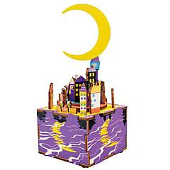 Puzzles Sets zum Selbermachen Holzpuzzle Bausteine Spielzeug zum Selbermachen Berühmte Gebäude MOON Zeichentrick Komposit