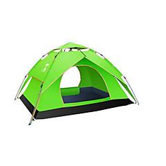 billige Telt og ly-3-4 personer Telt Dobbelt camping Tent Ett Rom Automatisk Telt Vanntett Regn-sikker Anti-Insekt til Camping & Fjellvandring Lerret CM