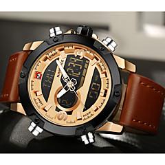 NAVIFORCE Men's Sport Watch Dress Watch Fashion Quartz Digital LCD Calendar Water Proof Dual Time Zones Luxury Brand Watch