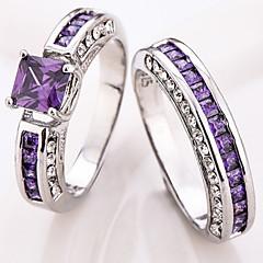 preiswerte -Damen Ringformen Bandringe Ring Kubikzirkonia StrassBasis Einzigartiges Design Strass Geometrisch Hip-Hop Multi-Wege Wear nette Art