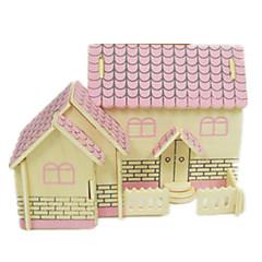 cheap -3D Puzzle Jigsaw Puzzle Model Building Kit Famous buildings House Simulation DIY Wood Classic Unisex Gift