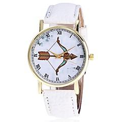 cheap Women's Watches-Men's Women's Quartz Wrist Watch Chinese Hot Sale PU Band Casual Unique Creative Watch Elegant Fashion Black White Brown Green Grey Ivory