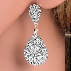 Women's Drop Earrings Rhinestone Fashion Silver Plated Alloy Drop Jewelry ForWedding Party Daily Casual Evening Party Office & Career