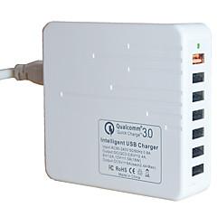 USB-laturi 7 Portit Työpöydän latausasema Quick Charge 3.0 -ohjelmistolla US-pistoke Latausadapteri