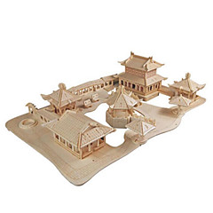 cheap -3D Puzzle Jigsaw Puzzle Famous buildings DIY Wood Natural Wood Chinese Style Kid's Unisex Gift