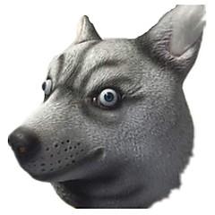 billige Originale moroleker-Haloween-masker Dyremaske Hunder Horrortema Lim Deler Unisex Voksne Gave