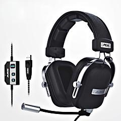 billiga Headsets och hörlurar-ajazz-ax300 Headband Kabel Hörlurar Dynamisk Aluminum Alloy / Tyg / Plast Spel Hörlur Ergonomisk Comfort-Fit / Med volymkontroll /