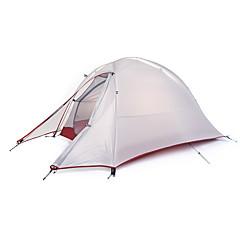 billige Telt og ly-Naturehike 1 person Telt Beskyttelse & Presenning Utendørs Vanntett, Regn-sikker, Velventilert Dobbelt Lagdelt camping Tent til Fisking Strand Camping Glassfiber