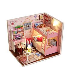 인형의 집 장난감 DIY 나무 프린세스 1 조각 생일 선물