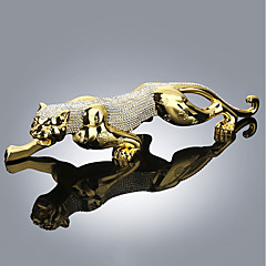 Diy ornamentos automotivos colheres de broche completo de panteras de leopardo&Ornamentos de liga de zinco