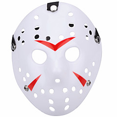 halloween nové porézní jason zabiják maska červený pruh 13. hrdinový hokej cosplay carnaval maškarní strana kostým prop