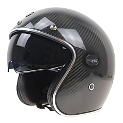 하프헬맷 요새 튼튼한 충격 방지 탄소 섬유 +EPS 오토바이 헬멧