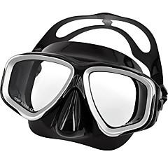 billiga Dykmasker, snorklar och simfötter-Snorkelmask / Simglasögon Bärbar, Vattentät Två Fönster - Simmning, Dykning Silikon - för Vuxen Svart
