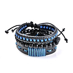 cheap -Men's Women's Leather Bracelet Jewelry Basic Bohemian Adjustable Hypoallergenic Handmade Classic Costume Jewelry Leather Circle Geometric