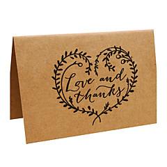 Dobrado no Topo Convites de casamento-Cartões de Obrigado Papel de Pergaminho