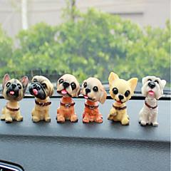 DIY autojen koristeet koiran nuket auton riipus&Koristeet muovia