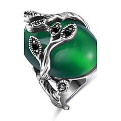 billige Motering-Dame Statement Ring / Ring / Forlovelsesring - Personalisert, Luksus, Unikt design 6 / 7 / 8 Grønn Til Jul / Julegaver / Bryllup