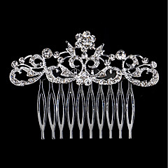 cheap Party Headpieces-Rhinestone Alloy Hair Combs 1 Wedding Special Occasion Birthday Party / Evening Headpiece