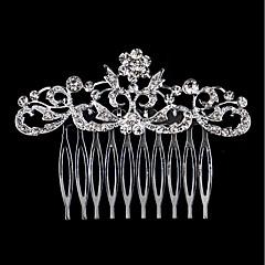 Pele de pente de cabelo de liga de diamante de strass estilo feminino clássico