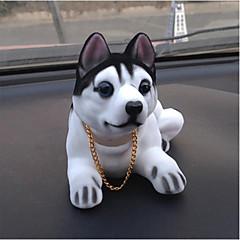 DIY autojen riipuksia nukkeja ravistamalla pääsä koiran sisustus tarvikkeita söpö luova pentuja husky auton riipus&Koriste-hartsi