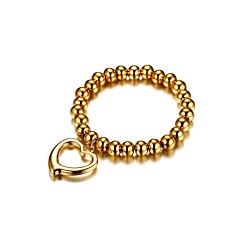 cheap Bracelets-Women's Chain Bracelet Love Cute Style Fashion Gold Steel Titanium Heart Jewelry Wedding Engagement Ceremony Evening Party Costume Jewelry