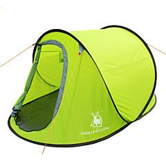 GAZELLE OUTDOORS 2 사람 텐트 싱글 캠핑 텐트 원 룸 텐트 팝업 방수 방풍 자외선 방지 폴더 용 하이킹 캠핑 2000-3000 mm 유리 섬유 옥스포드-245*145*100 CM