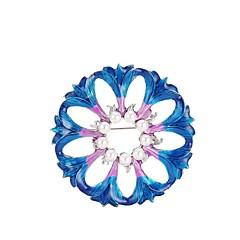 billige Motebrosjer-Dame Nåler Syntetisk Diamant Blomster Klassisk Hypoallergenisk Mote Perle Legering Blomst Mørkeblå Smykker Til Jul Fest Bursdag Gave