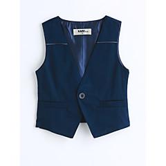 tanie Odzież dla chłopców-Brzdąc Dla chłopców Jendolity kolor Bez rękawów Bawełna Kamizelka