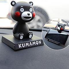DIY automotive ornamenter tegneserie søt rister på hodet dukke bil anheng&Ornamenter pvc