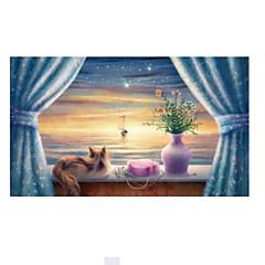 tanie Gry i puzzle-Puzzle Drewniane puzzle Kot Drewniany Urodziny Dla obu płci Prezent