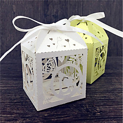 50pcs Ring design Laser Cut Wedding Favor Box Candy Box