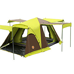 billige Telt og ly-CAMEL 3-4 personer Telt Dobbelt camping Tent To Rom Brette Telt Velventilert Vanntett Støvtett Sammenleggbar til Camping & Fjellvandring