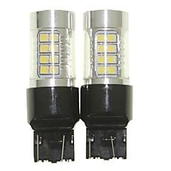 billige Motorcykel Belysning-Sencart 2pcs 7443 w21 21w w3x16q pære ledet bilhale omvendt lyspære lamper (hvid / rød / blå / varm hvid) (dc / ac9-32v)