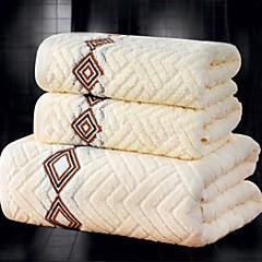 billiga Handdukar och badrockar-Överlägsen kvalitet Badhandduk set, Jacquard 100% bomull Badrum