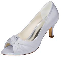 Damă pantofi de nunta Balerini Basic Satin Elastic Primăvară Vară Nuntă Party & Seară Funde Toc StilettoArgintiu Albastru Roz Maro