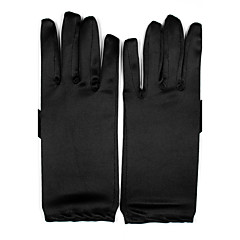 До запястья С открытыми подушечками пальцев Перчатка Спандекс Свадебные перчатки Вечерние перчатки Все сезоны Плиссировка