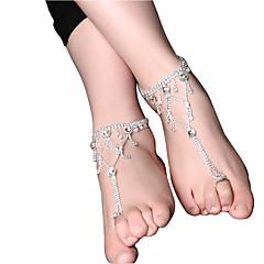 בגדי ריקוד נשים תכשיט לקרסול/צמידים ורוד פנינה פרחוני טיפה תכשיטים עבור חתונה ארוסים רחוב ליציאה מועדונים