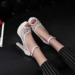 cheap Wedding Shoes-Women's Wedding Shoes Heels / Peep Toe / Platform / Comfort / Novelty / Round Toe / Open Toe SandalsWedding /