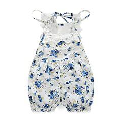 billige Babytøj-Baby Pige Blomster Blomstret / Blonde Trykt mønster Uden ærmer En del