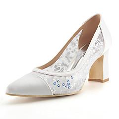 Mujer Zapatos Tul Verano / Otoño Pump Básico Zapatos de boda Tacón Cuadrado Dedo Puntiagudo Pedrería Negro / Rojo / Boda Large Éventail De La Vente En Ligne Esn8Alp2