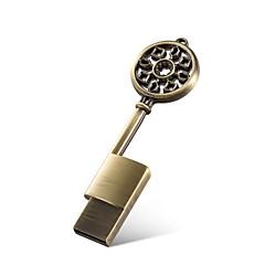 メタルキーの形状16ギガバイトのUSB 2.0フラッシュメモリのメモリスティック防水のUSBフラッシュディスク親指のドライブかわいいプレゼント包装
