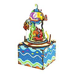 Holzpuzzle Kaleidoskop Spielzeuge Fotograf Zeichentrick Heimwerken Kinder Stücke