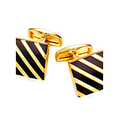 Cufflink Tie Bar Tie Clip  Fashion Vintage Cufflinks Men's Women's Gold