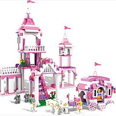 אבני בניין מכוניות צעצוע צעצועים טירה כרכרה סוס חתיכות בנות מתנות