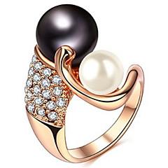 levne -Dámské Široké prsteny Křišťál Imitace perly Základní design láska Sexy Módní Přizpůsobeno Cute Style luxusní šperky Klasický Elegantní