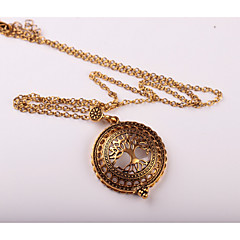 cheap Necklaces-Women's Pendant Necklace Y-Necklace - Metallic Vintage Flower Tree of Life Necklace For Wedding Party Birthday Graduation Party /