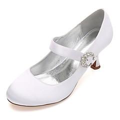 olcso -Női Esküvői cipők Kényelmes Mary Jane Magasított talpú Szatén Tavasz Nyár Esküvő Ruha Party és Estélyi Strasszkő Glitter Csokornyakkendő